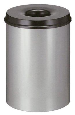 Papierbak Vlamdovend 15 Liter Zwart