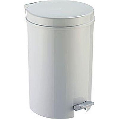 Afvalbak met Pedaal 16 Liter Wit/Grijs